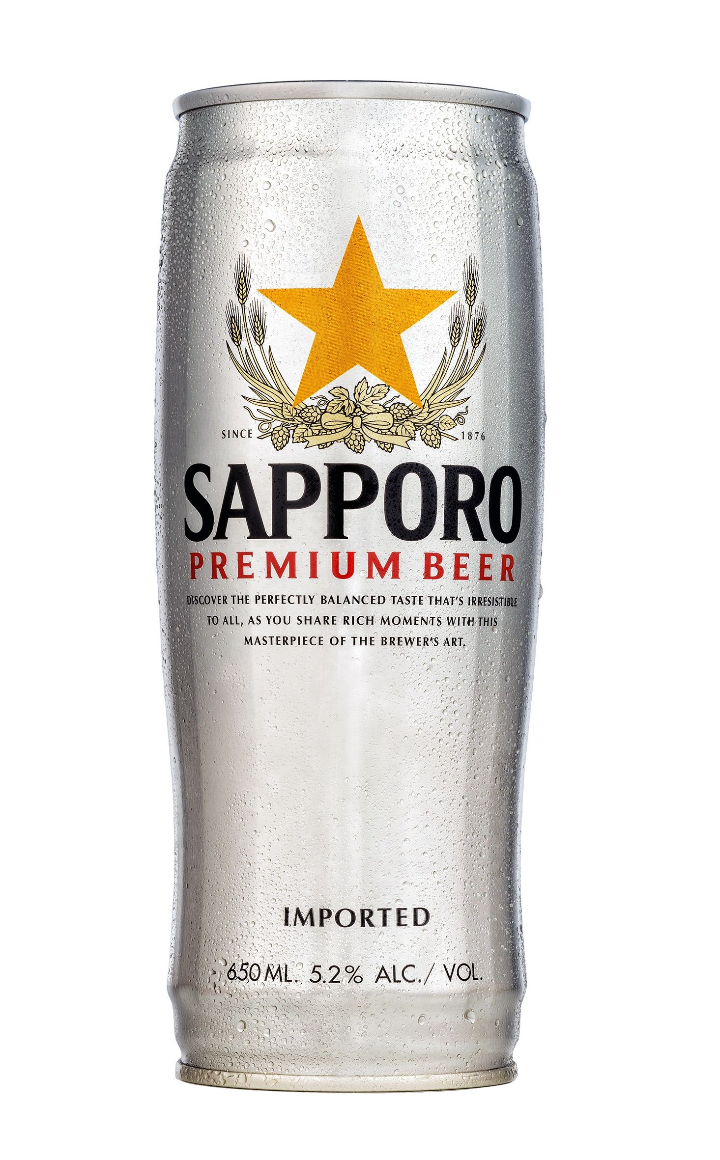 Sapporo Premium Draft Beer Can 650ml