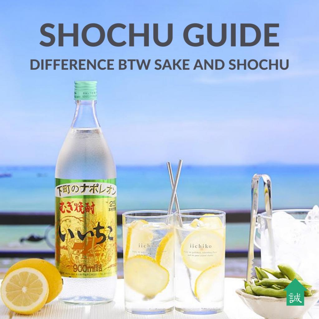 Shochu Guide: Difference between shochu and sake | Makoto-ya Singapore