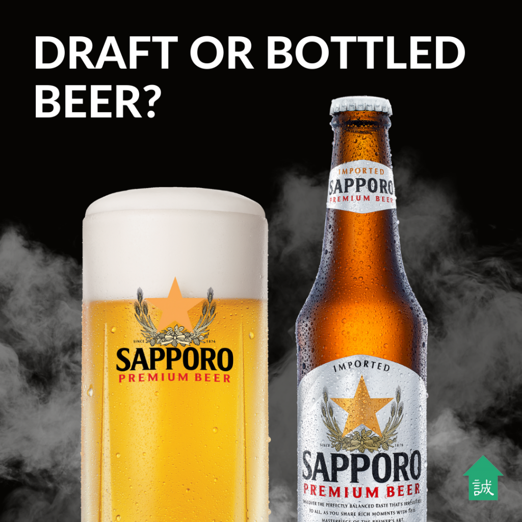 Difference between draft and bottled beer | Makoto-Ya Singapore