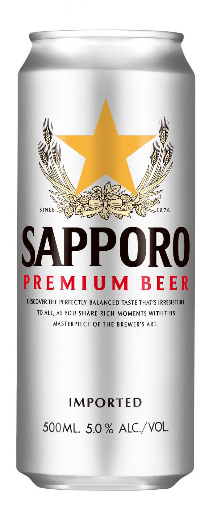 Sapporo Premium Draft Beer Can 500ml