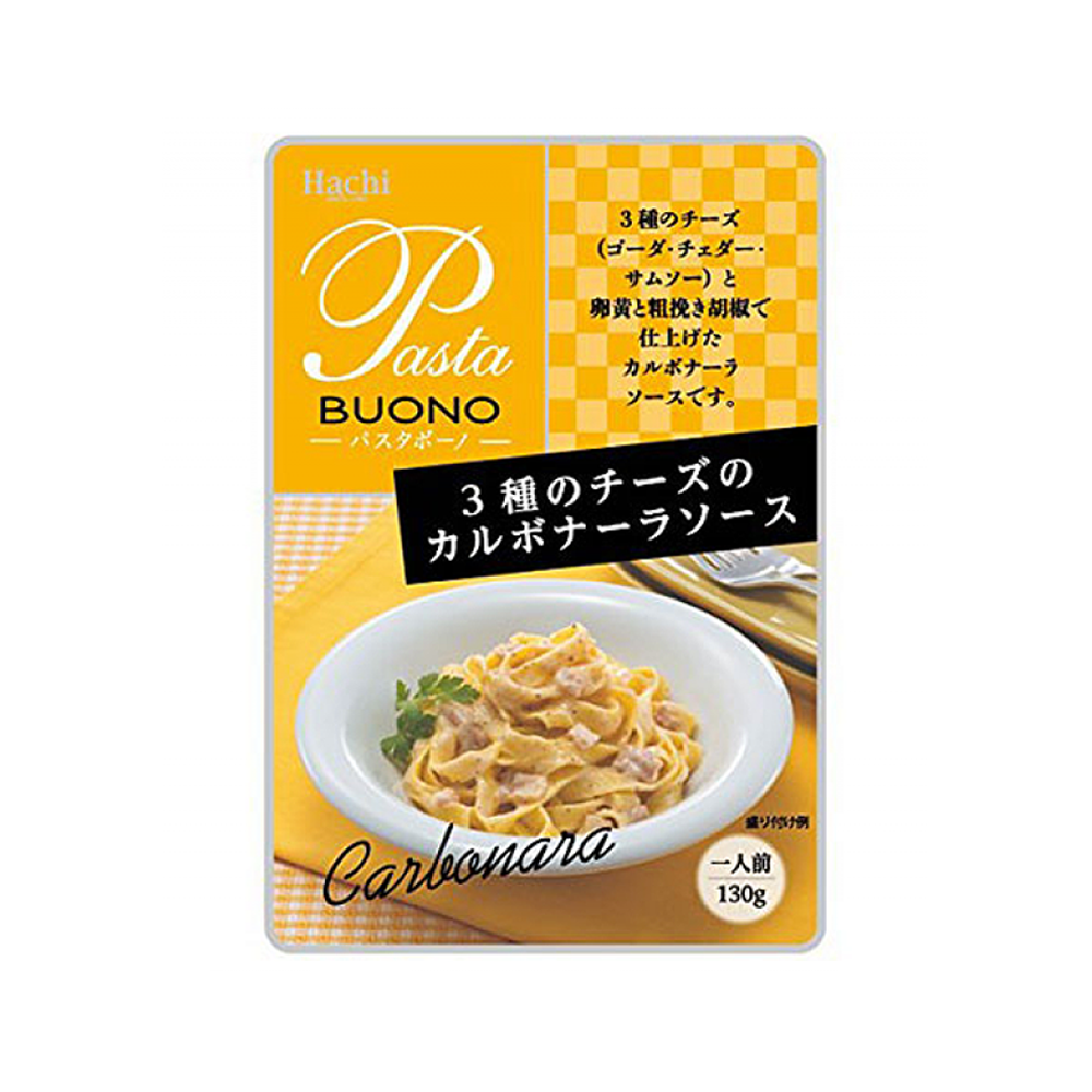 Hachi Carbonara Pasta Sauce with 3 Kinds Of Cheese